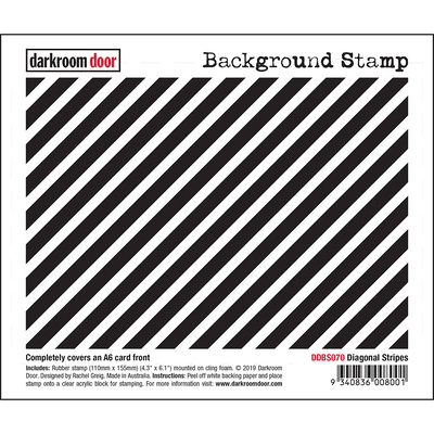Background Stamp - Diagonal Stripes