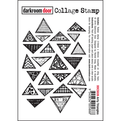 Collage Stamp - Arty Triangles