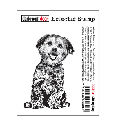 Eclectic Stamp - Sitting Dog