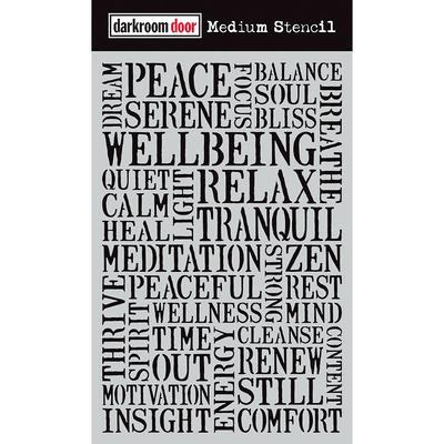 Medium Stencil - Wellbeing