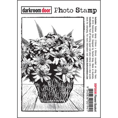 Photo Stamp - Flower Basket