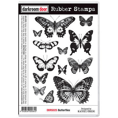 Rubber Stamp Set - Butterflies