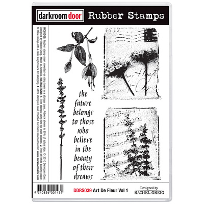 Rubber Stamp Set - Art De Fleur Vol 1