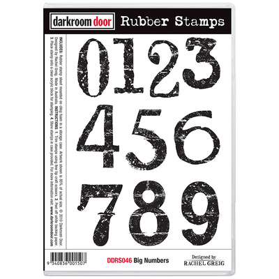 Rubber Stamp Set - Big Numbers