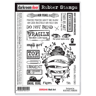 Rubber Stamp Set - Mail Art