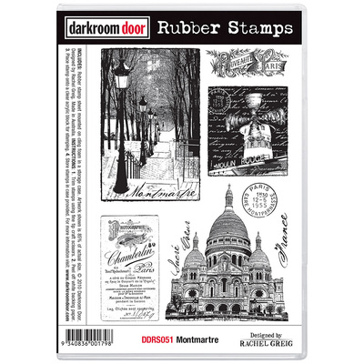 Rubber Stamp Set - Montmartre