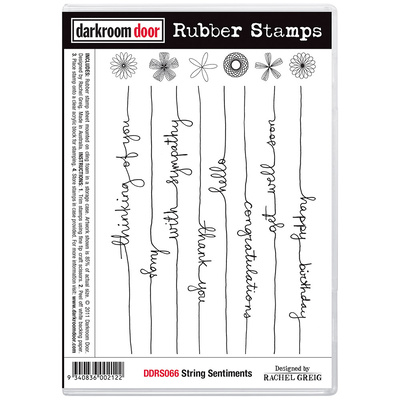 Rubber Stamp Set - String Sentiments