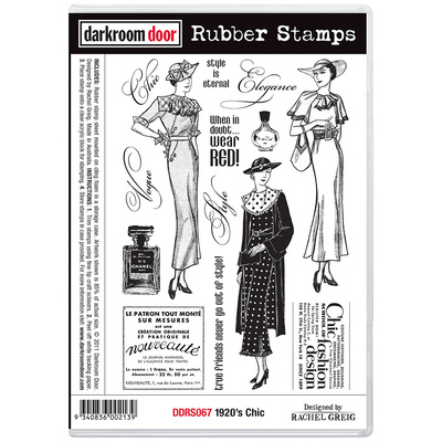 Rubber Stamp Set - 1920s Chic