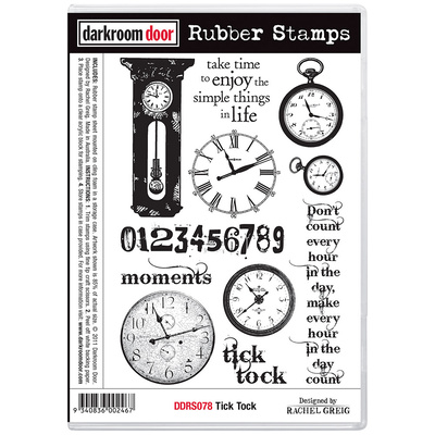 Rubber Stamp Set - Tick Tock
