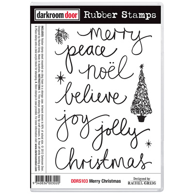 Rubber Stamp Set - Merry Christmas