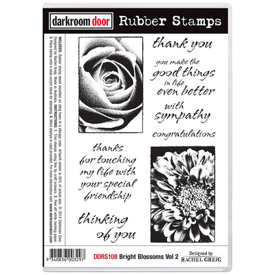 Rubber Stamp Set - Bright Blossoms Vol 2