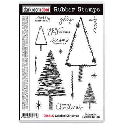 Rubber Stamp Set - Stitched Christmas