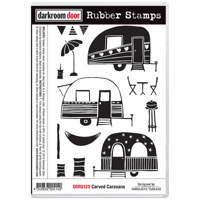 Rubber Stamp Set - Carved Caravans