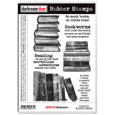 Rubber Stamp Set - Bookworm
