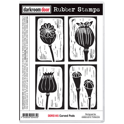 Rubber Stamp Set - Carved Pods