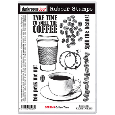 Rubber Stamp Set - Coffee Time