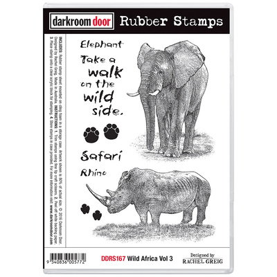 Rubber Stamp Set - Wild Africa Vol 3