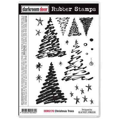 Rubber Stamp Set - Christmas Trees