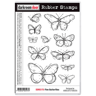 Rubber Stamp Set - Fine Butterflies