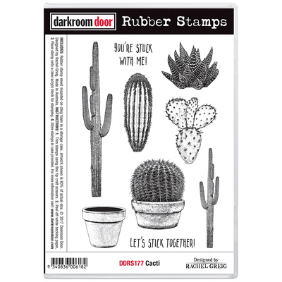 Rubber Stamp Set - Cacti