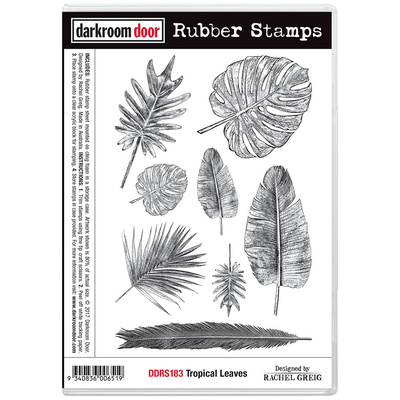 Rubber Stamp Set - Tropical Leaves