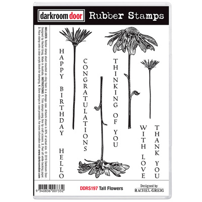 Rubber Stamp Set - Tall Flowers