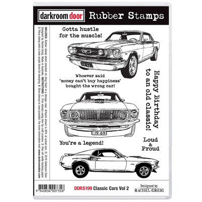 Rubber Stamp Set - Classic Cars Vol 2