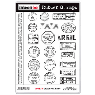 Rubber Stamp Set - Global Postmarks