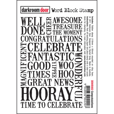 Word Block Stamp - Congratulations