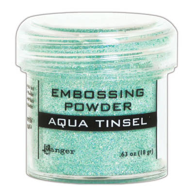 Embossing Powder Tinsel - Aqua
