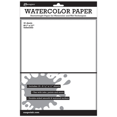 Watercolour Paper 8.5x11 (10 Pack)