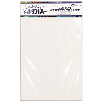 Dina Wakley Media Cotton Watercolour Paper (10 Pack)